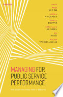 Managing for Public Service Performance