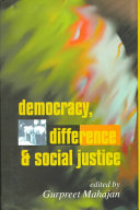 Democracy Difference And Social Justice