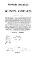 Dictionnaire Encyclopedique des Sciences Medicales