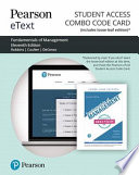 Survey of Fundamentals of Management Pearson Etext Combo Access Card
