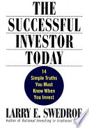 The Successful Investor Today Book PDF