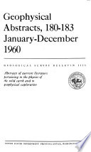 Geophysical Abstracts  180 January March 1960