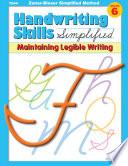 Handwriting Skills Zaner Bloser Simplified Method     Mastering Cursive Writing