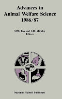 Advances in Animal Welfare Science 1986 87