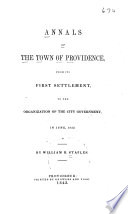 Annals of the Town of Providence