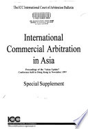 International Commercial Arbitration in Asia
