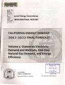 California Energy Demand 2012 2022