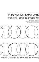Negro Literature for High School Students