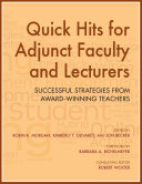 Quick Hits for Adjunct Faculty and Lecturers: Successful Strategies ...