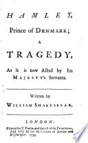 HAMLET  Prince of DENMARK Book