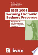 Isse 2004 Securing Electronic Business Processes