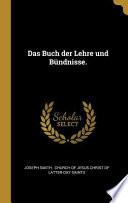 Das Buch Der Lehre Und Bündnisse.