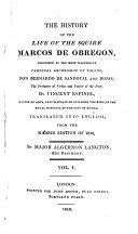 The History of the Life of the Squire Marcos de Obregon ...