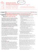 Child Care Food Program News Book
