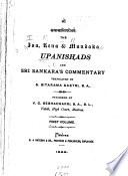 The Upanishads and Sri Sankara s Commentary  Isa  Kena   Mundaka