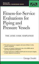 Fitness For Service Evaluations For Piping And Pressure Vessels Book PDF
