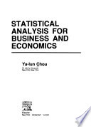 Statistical Analysis for Business and Economics