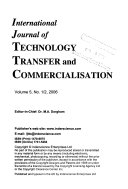 International Journal of Technology Transfer and Commercialisation