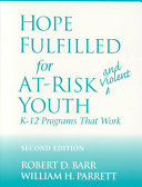 Hope Fulfilled for At-risk and Violent Youth Pdf/ePub eBook