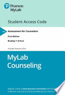 Mylab Counseling With Pearson Etext - Access Card - for Assessment for Counselors