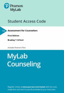 Mylab Counseling With Pearson Etext   Access Card   for Assessment for Counselors