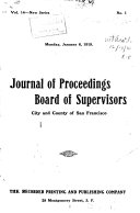 Journal of Proceedings  Board of Supervisors