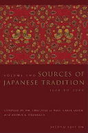 Sources of Japanese Tradition  From earliest times to 1600
