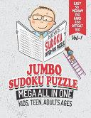 Jumbo Sudoku Puzzle Mega All in One