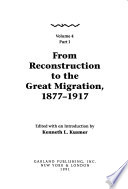 Black Communities and Urban Development in America, 1720-1990: From Reconstruction to the Great Migration, 1877-1917 (2 v.)