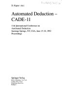 Automated Deduction Cade 11