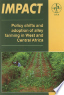 Policy Shifts And Adoption Of Alley Farming In West And Central Africa Book PDF