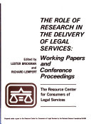 The Role of Research in the Delivery of Legal Services