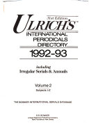 Ulrich s tm international periodicals directory
