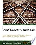 Lync Server Cookbook Book PDF