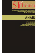 ANAIS DO XVI SEMINÁRIO INTERNACIONAL DE EDUCAÇÃO: Docência nos seus Múltiplos Espaços