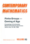 Finite Groups  coming of Age