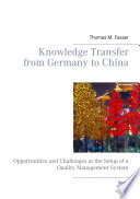Knowledge Transfer from Germany to China