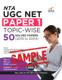 (Free sample) NTA UGC NET Paper 1 Topic-wise 50 Solved Papers (2019 to 2004)