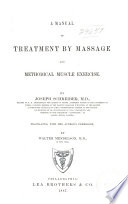 Manual of Treatment by Massage and Methodical Exercise Book