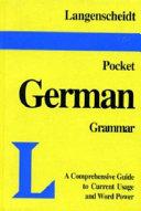 Langenscheidt's Pocket German Grammar