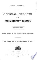 Official Reports of the Parliamentary Debates (Hansard).