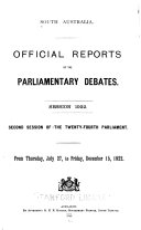 Official Reports Of The Parliamentary Debates Hansard  Book PDF