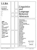 Linguistics and Language Behavior Abstracts