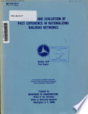 Analysis and Evaluation of Past Experience in Rationalizing Railroad Networks