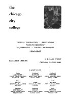 City Colleges of Chicago Catalog Book