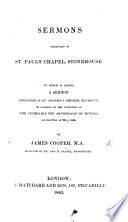 Sermons Preached In St Paul S Chapel Stonehouse To Which Is Added A Sermon Preached In St Andrew S Church Plymouth Etc Book PDF