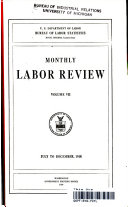 Monthly Labour Review Volume Vii