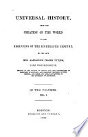 Universal History  from the Creation of the World to the Beginning of the Eighteenth Century