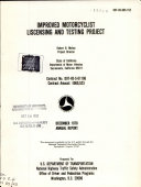 Pdf Improved Motorcyclist Liscensing [i.e. Licensing] and Testing Project