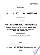 Report of the Tariff Commission